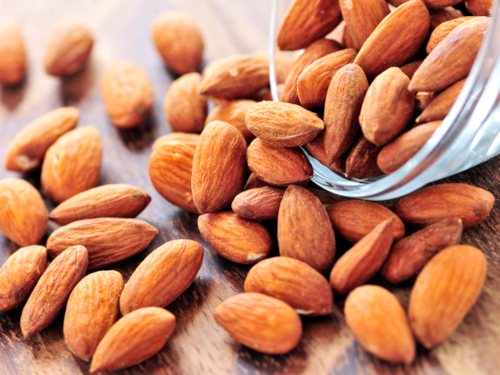 Almonds high protein content
